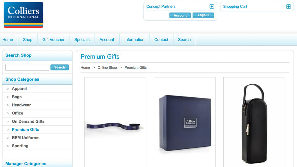Colliers International Online Store