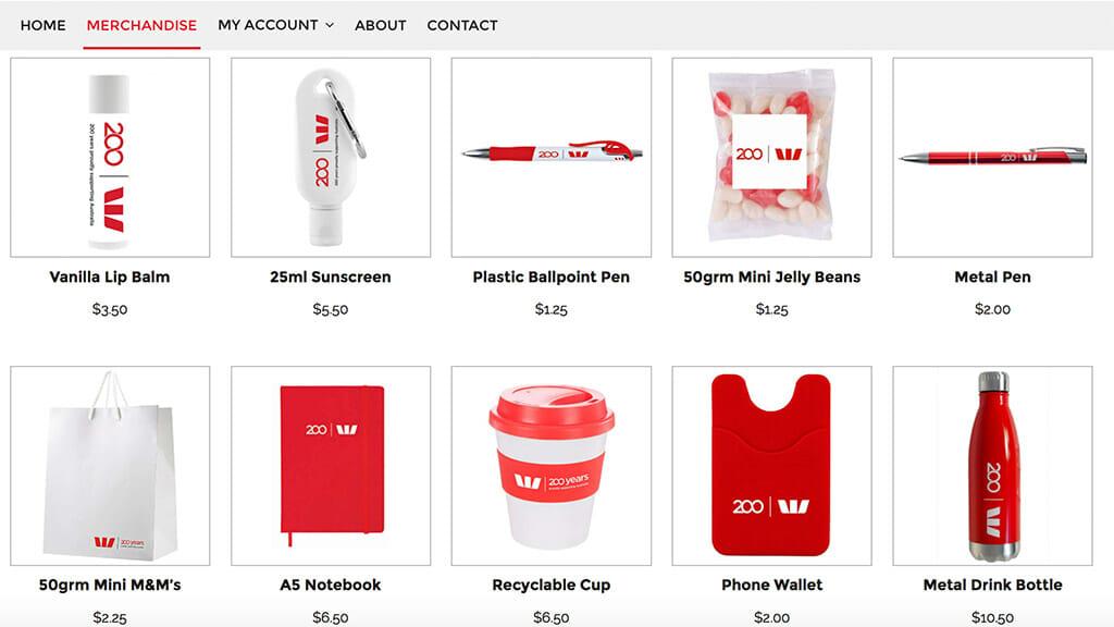 Westpac Online Store
